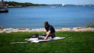 unpack and unroll your kayak