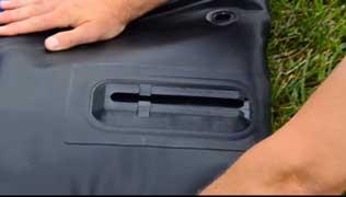 Keep your skeg base flat as you roll the kayak.