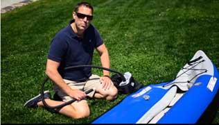 The working pressure of Explorer kayaks is 3.2 PSI (22 Kpa)
